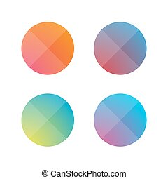 Empty button set flat design vector