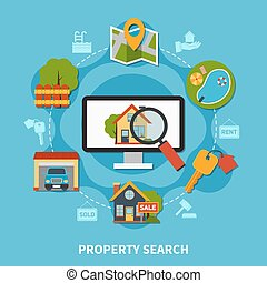 Real Estate Concept - Flat design real estate concept with...