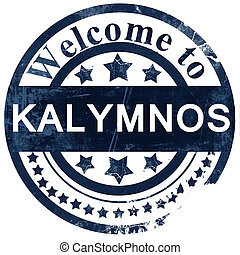 Kalymnos stamp on white background