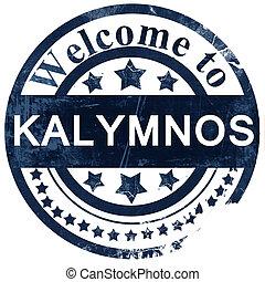 Kalymnos stamp on white background