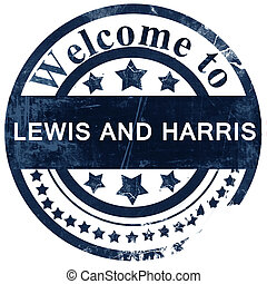 Lewis and harris stamp on white background