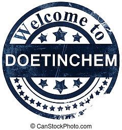 Doetinchem stamp on white background