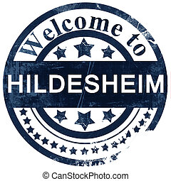 Hildesheim stamp on white background