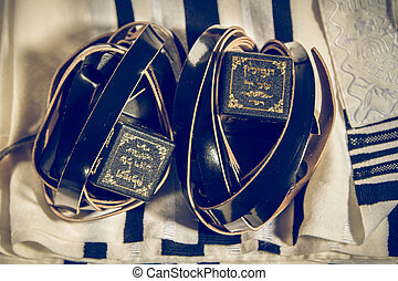 Talit and Tefillin, jewish ritual objects - Jewish ritual...