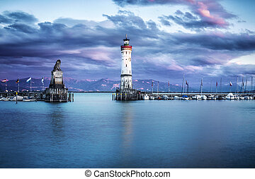 habour entrance - Lindau (Bodensee) - Germany - The harbour...