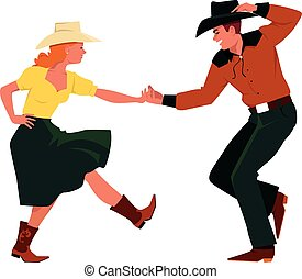 Country Western dancing - Couple dancing Country Western,...