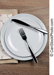 Dining etiquette - I still eat, Resting position. Fork and...
