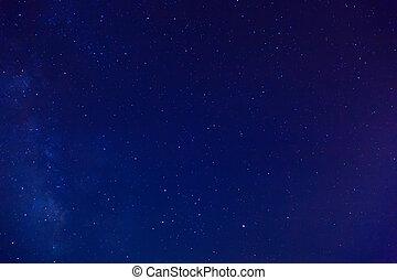 Starry sky. The milky way in the night sky.