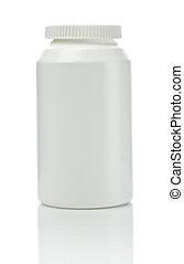 white medical bottle