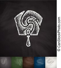 decoration icon. Hand drawn illustration - decoration icon....