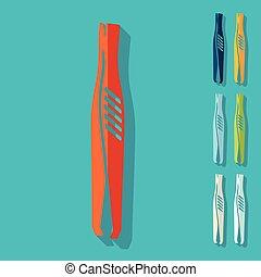Flat design: tweezers