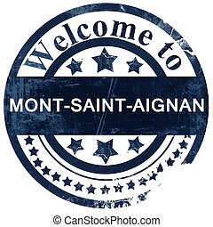 mont-saint-aignan stamp on white background