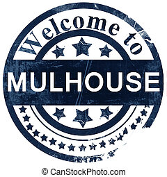 mulhouse stamp on white background