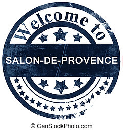 salon-de-provence stamp on white background