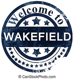 Wakefield stamp on white background