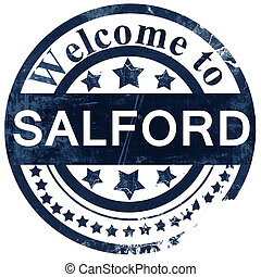 Salford stamp on white background