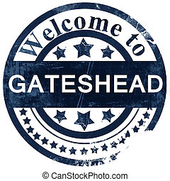 Gateshead stamp on white background