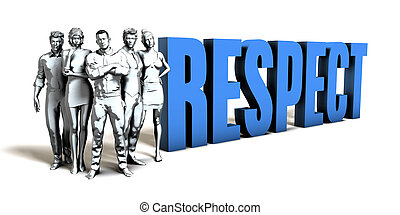 Respect Business Concept as a Presentation Background
