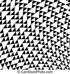 Black and white triangles geometrical background
