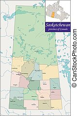 Map of Saskatchewan - Saskatchewan is a prairie and boreal...