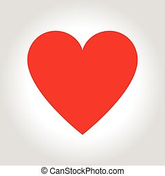 Hearts icon symbol of love on valentines Day.
