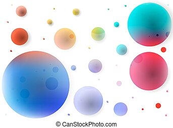 abstract background of colored circles - Abstract background...