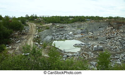 Quarry mining granite