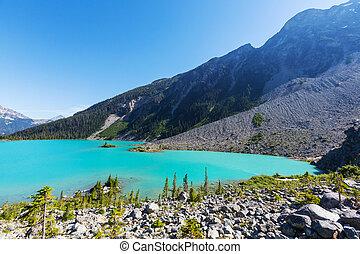 Joffre lake - Beautiful turquoise waters of the Joffre lake...