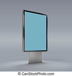 Black vertical turned monitor mockup . - Information board...