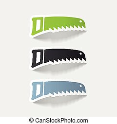 realistic design element: hand saw