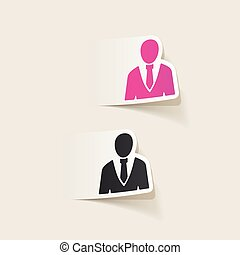 realistic design element: office people