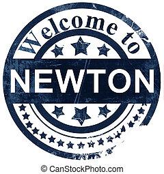 newton stamp on white background
