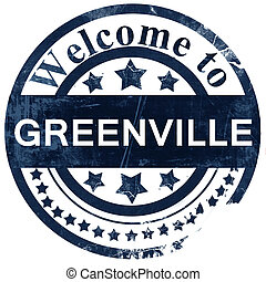 greenville stamp on white background