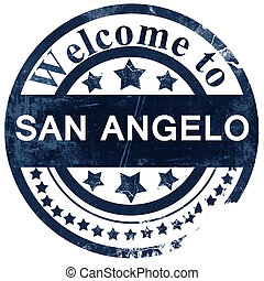 san angelo stamp on white background