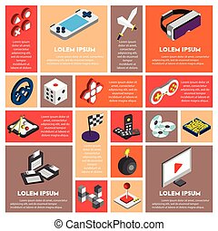 illustration of info graphic technology concept in isometric...