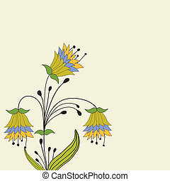 Colorful Spring flowers . Vector