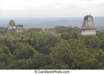 The Mayan ruins of Tikal on Guatemala