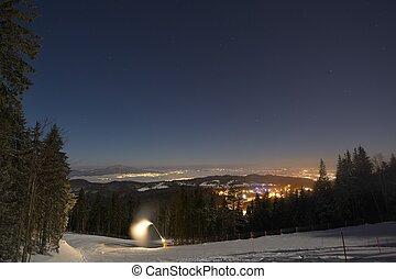 Ski slope in Poiana Brasov