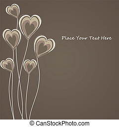 Caongratulatory card with abstract heart.vector illustration