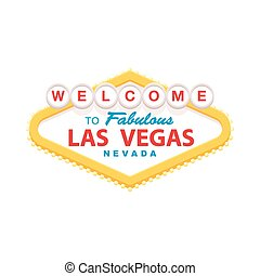 Welcome to Las vegas sign - Classic retro Welcome to Las...