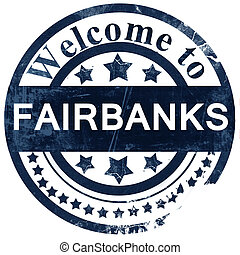 fairbanks stamp on white background