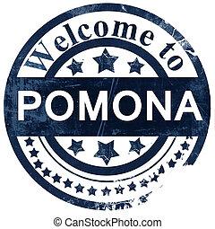 pomona stamp on white background