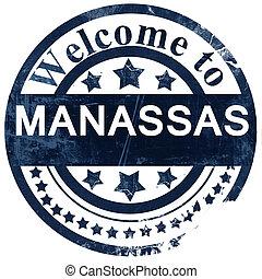 manassas stamp on white background