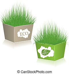 Eco Shopping bags. vector