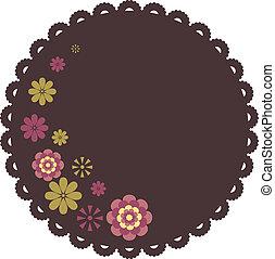 Flower background design. Vector   Illustration