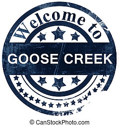 goose creek stamp on white background