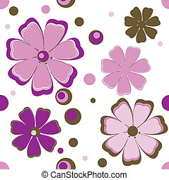 Background with pink flowers.