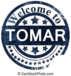 Tomar stamp on white background