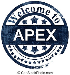 apex stamp on white background