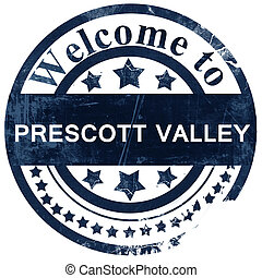 prescott valley stamp on white background